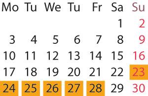 Kalender - HM2017